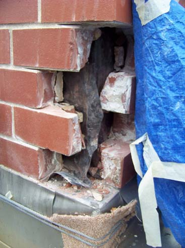 Brick Replacement - Steel Repair