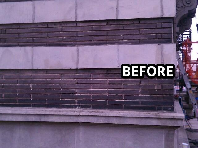 before facade cleaning